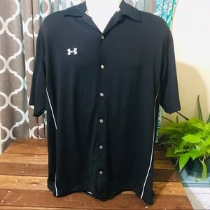 Under Armour button up bowling type shirt